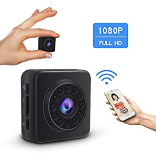 Wifi Mini Hidden Wireless Spy Camera 1080P HD Security Surveillance Camera with Night Vision,Motion Detection for iPhone/Android Phone/iPad Remote View Accfly