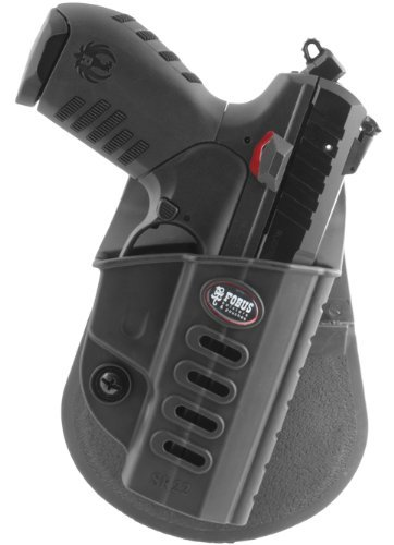 Fobus Tactical SR-22 RT Right Hand Conceal Carry Polymer Roto Paddle Holster for Ruger SR22 - Black by Fobus