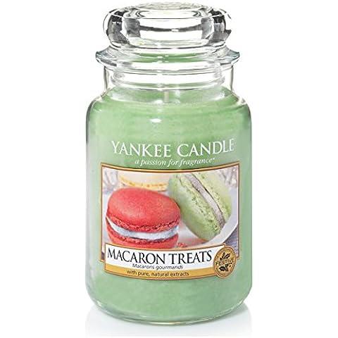 Yankee Candle–Barattolo grande con candela, Macaron Dolci
