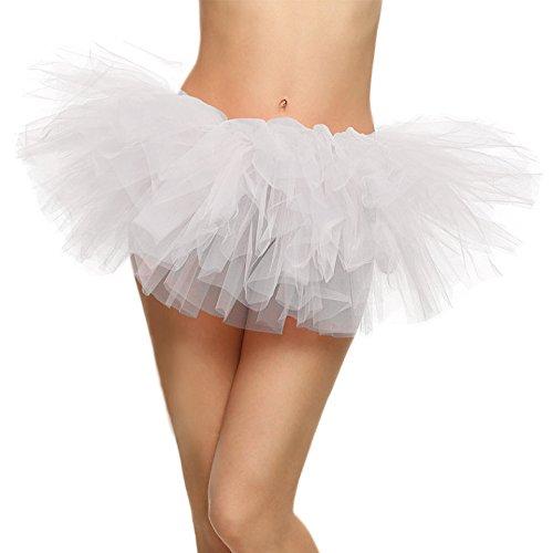 Tanz Ballet Kostüme Tutu (SRANDER Damen Tüllrock Tütü Tutu Petticoat 5 Schicht Ballet Tutu Tanz Röcke)