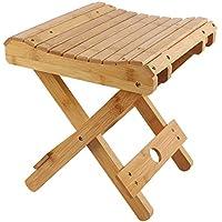 Preisvergleich für Wooden folding stool Klappbarer Hocker Portable Home Outdoor Angeln Kleine Bank