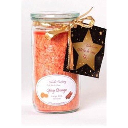 Mandarin Kerze (Candle Factory Kerze Mini Jumbo mandarin mit Spicy Orange Duft 307045)