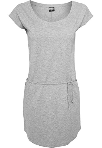 Ladies Slub Jersey Dress Freizeitkleid Grey
