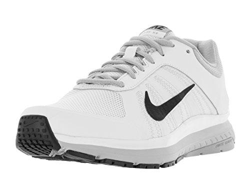 Nike Herren Dart 12 Laufschuhe, Blanco (White/Black-Wolf Grey), 44 EU (Weiße Nike-dart)