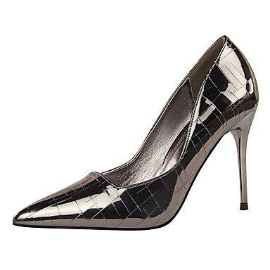 Moda Donna Sandali Sexy donna caduta tacchi Comfort abito in similpelle Stiletto Heel altri più colori disponibili. Silver