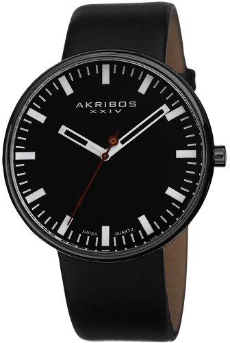 Akribos XXIV Herren Analog Quarz Uhr mit Edelstahl Armband AK733BK