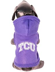 NCAA Texas Christian Horned Frogs Polar Fleece Hooded Dog Jacket, XX-Large by All Star Dogs
