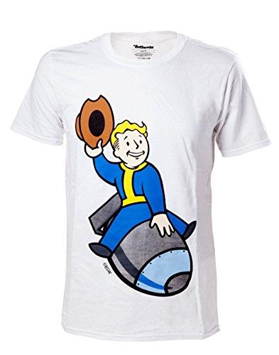 fallout 4 t shirt Fallout 4 T-Shirt -2XL- Boy Bomber, weiss