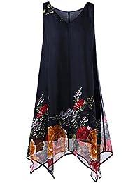 Homebaby® Abiti Donna Eleganti Chiffon Taglie Forti - Vintage Estivi  Vestiti Sexy - Gonna Mini 7251c7eaa65