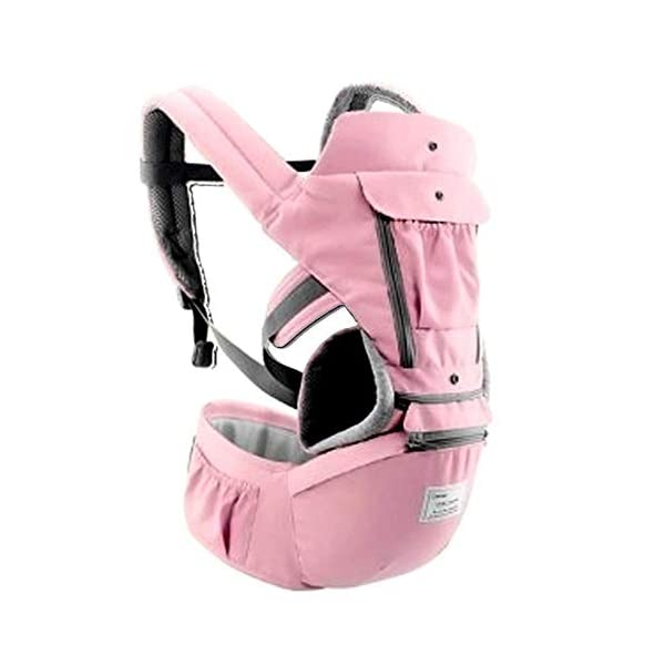 All-in-one Safe Baby Travel Carrier - Designed with Hip Seat - Soft & Breathable - Protective Leg Pad - Multi Position Carrying Perfect for Infants, Babies & Toddlers (Pink) Freeship Deals ERGONOMIC CONSTRUCTION: Ergonomically designed travel carrier helps you to keep the baby healthy and safe inside; reasonable Arc-shaped seat avoids the baby with O-type leg. COMFORTABLE: Soft pad provides increased space with the roller blind design; release baby's active nature without any restrictions; it also provides complete breathability in summer with 11 different carrying position SAFE: Our baby carrier comes with H-type non-slip shoulder belt to carry the baby safe; generous padding protects the adult abdomen or waist with 100% safe and free from health-hazardous substances; give everything best for your baby! 1