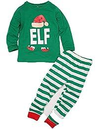 CHRONSTYLE Conjunto de Pijamas Familiares de Navidad, Trajes Navideños para Mujeres Hombres Niño, Ropa Invierno Sudadera Chándal Suéter Niños de Navidad
