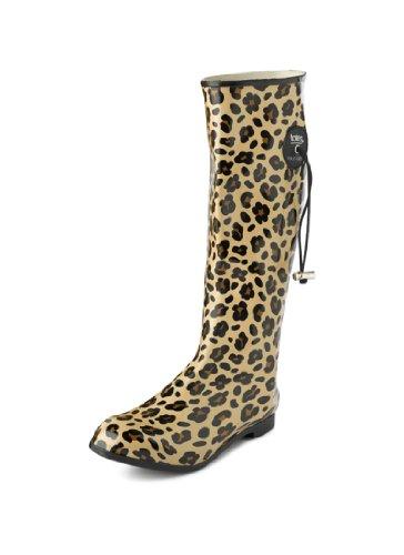 Gummistiefel/Schneestiefel für Damen, mit Punkten, Vogel, Leopard, Pferd oder Blumenmuster, Größe 47-42, Blau - Navy Polka Dot Wellies - Größe: 37.5