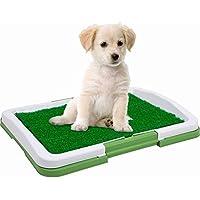 LA VIE Inodoro Antideslizante Extraíble para Perros Pequeños con Césped Artificial Capa y Rejilla Aseo Orinal de Entrenamiento para Cachorros Bandeja para Perros para Entrenar Enseñar