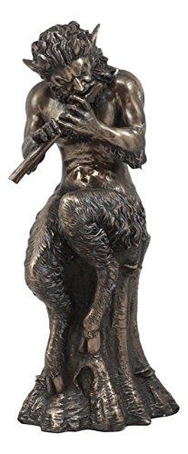 Ebros Satyr-Statue, griechische Göttlichkeit, Gott der Hölzer und Berge, männlicher Begleiter von Pan und Dionysius