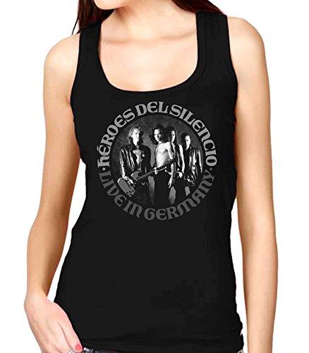 35mm - Camiseta Mujer Tirantes - Heroes Del Silencio - Live In Germany - Women'S Tank Top, NEGRA, S