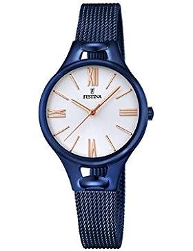 Festina Damen-Armbanduhr Analog Quarz Edelstahl F16953/1
