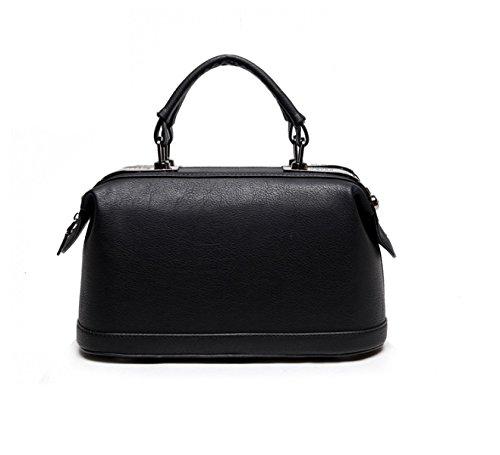 PACK Europa Und Die Vereinigten Staaten Große Taschen Soft Handles Handtaschen Pu Leder Eimer Tasche Schultertasche Handtasche,A:Green B:Black