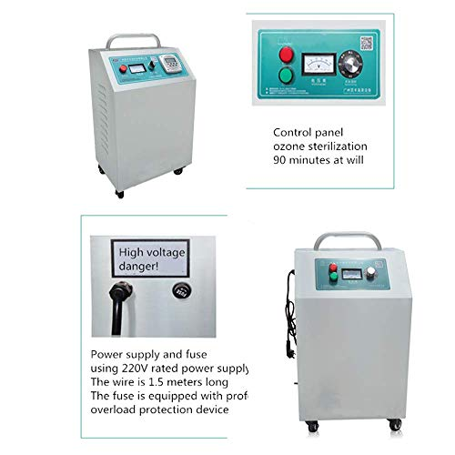 414Edj3ktVL. SS500  - GXHGRASS Commercial Ozone Generator, 15000Mg/ Industrial O3 Air Purifier Deodorizer Sterilizer, Two Kinds of Timers,Light Grey