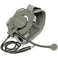 Z-TAC Z-Tactical Z029micrófono Headset Bowman Evo III de doble cara táctico militar Airsoft caza del adaptador de micrófono Mic Radio FG con correa
