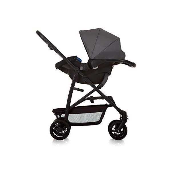 Hauck Rapid 4 X Plus Trio Set, 3-in-1 Travel System from Birth Up To 25 kg, Infant Car Seat Group 0, Carrycot and Buggy, One Hand Fold, Height-Adjustable Push Handle, Lying Position, Mickey Cool Vibes  3 in 1 stroller set. includes pushchair, carry cot and group 0+ car seat. Rapid fold system. the one hand fold system makes this pushchair ideal for shopping trips, and it folds small enough to fit in most car boot Optional isofix base.  the group 0+ car seat is compatible with the hauck comfort fix car seat base. 12
