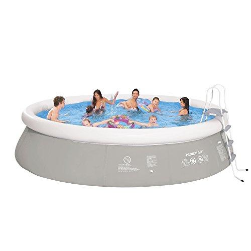 Jilong Prompt Set Pool Marin Grey 540H Set - Quick-up Pool 540x122cm, mit Filterpumpe und Kartusche, Leiter, Boden- und Abdeckplane