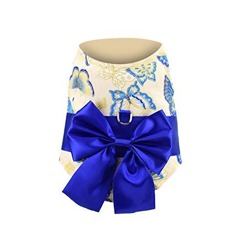 Fenverk 1Pc Weich Japanisch Kimono Hund Stoff Alle GrößEn Haustier HüNdchen Katze Kleidung Weste Geschirr Jumper Sweatshirt Mantel Zum Klein Rasse Hunde S/M / L (Mehrfarben-A,M)
