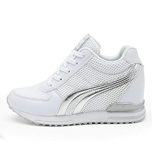 AONEGOLD® Zapatillas de Cuña para Mujer Zapatillas de Deporte Zapatillas Altas Primavera/Verano Tacón...