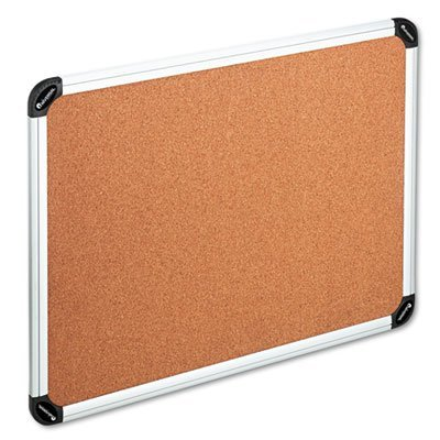 Resilient self-healing natural cork. - UNIVERSAL OFFICE PRODUCTS * Cork Board with Aluminum Frame, 48 x 36, Natural, Silver Frame by Universal Office Products