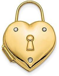 15.59mm 14ct pulido diamante Corazón Bloqueo camafeo