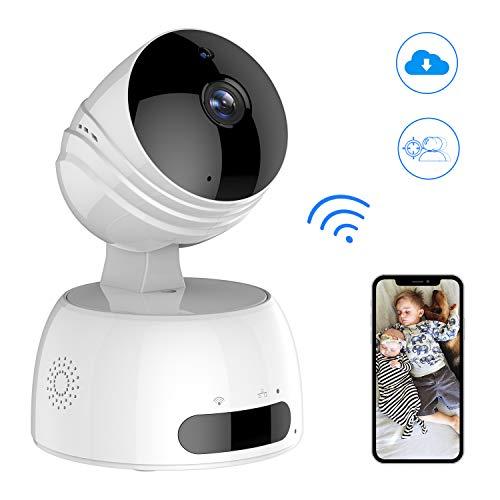 Wireless IP Kamera, ROXTAK HD Überwachungskamera mit WiFi, 355°/100° Schwenkbar, Zwei-Wege-Audio, Nachtsicht, mit Bewegungserkennung und Mobile App Kontrolle für Smartphone/PC Mobile Audio