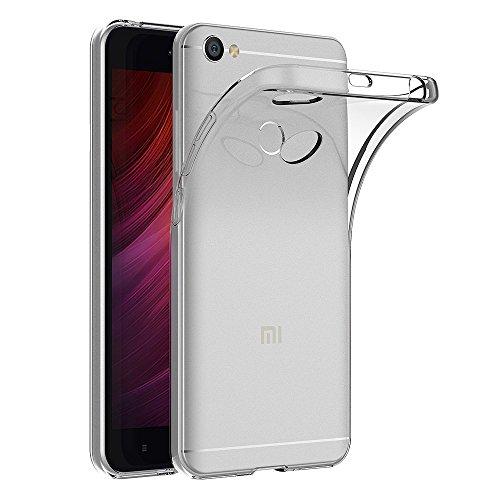 ivoler Funda Carcasa Gel Transparente para Xiaomi Redmi Note 5A / Xiaomi Redmi Note 5A Prime, Ultra Fina 0,33mm, Silicona TPU de Alta Resistencia y Flexibilidad