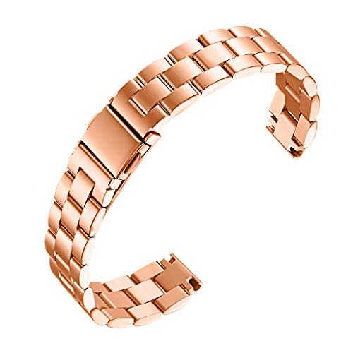 Mumuj Stainless Steel Watch Band , Huawei Honor 4 Replacement Solid Stainless Steel Watch Band Wrist Strap Jewelry Metallarmband mit Schmuck Ersatzband Sport Magnet UhrBand Nylon (Gold)