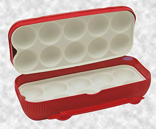Tupperware® Lunch-Box Brotdose Twin-Box rot Kolumbus Eierbox Eierlei (Tupperware 12 Stück)
