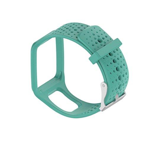 Hunpta Ersatz Silicagel Soft Band Gurt für TomTom Multi-Sport / Cardio GPS Armbanduhr (Grün)