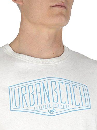 Urban Beach Pizarro da uomo, girocollo, colore: Bianco - crema