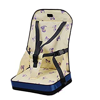 AIHOME Baby Dining Chair Bag with Safe Harness, Portable Travel Safety Belt Booster Feeding Dining Chair Bag Bib Mummy Bag for Baby Kid Toddler