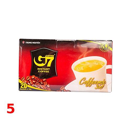 5x320g Trung Nguyen G7 Vietnam Instant Kaffeepulver 3in1 (Natürliche Instant-kaffee)
