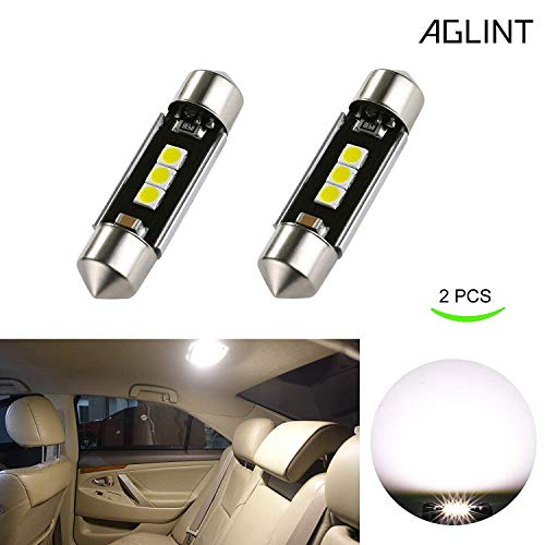 AGLINT C5W 36mm LED Lampadine 3030 3SMD Estremamente Luminoso CANBUS Senza Errori 6411 6418 per Luci Interne Auto Targa a LED Bulbi (2X 6000K Bianco)