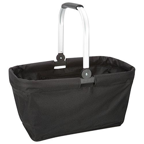 LOMOS Faltbare Einkaufstasche, Einkaufskorb mit komfortablem Henkel, Größe L