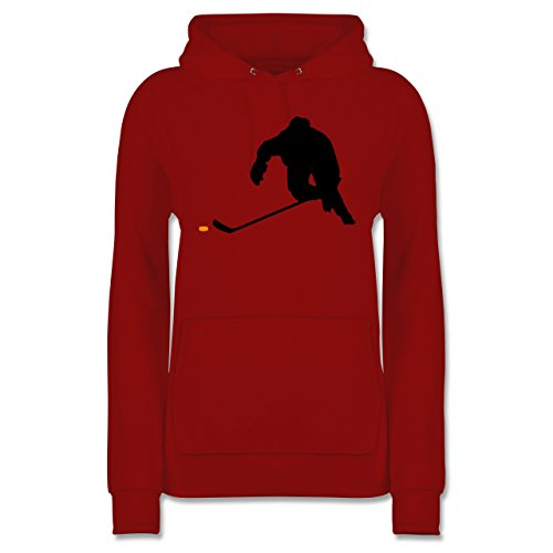 Shirtracer Eishockey - Eishockey Sprint - L - Rot - JH001F - Damen Hoodie -