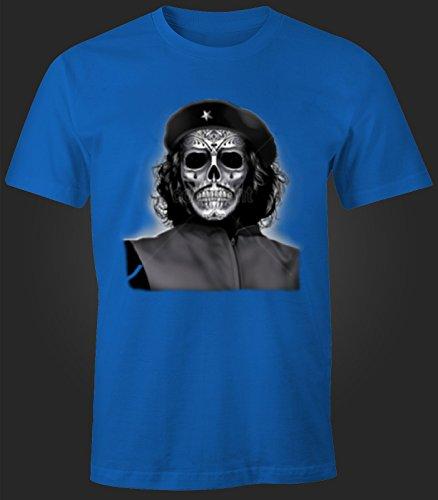 Herren T-Shirt Che Guevara Maske Totenkopf Royal