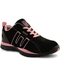 Groundwork, Scarpe antinfortunistiche donna Nero nero, Nero (Black / Pink), 36