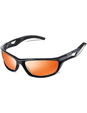 ATTCL Herren Sonnenbrille Polarisierter Sports Fahren Golf Laufen Superleichtes Rahmen