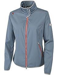 PIKEUR Damen Softshell Jacke mit hohem Stehkragen DELA Next Generation Frühjahr/Sommer 2017, smoked blue, 36
