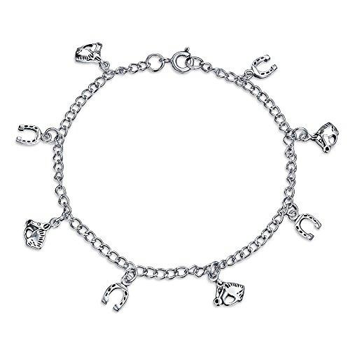 Viel Glück Multi Hufeisen Pferde Armband Für Damen Staffelunggeschenk Zirkonia Ebnen Cz 925 Sterling Silber Petite Womens Schuhe
