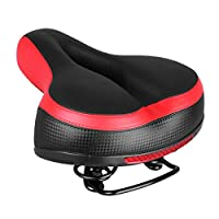 LIOOBO 1pc Bike Saddle Shock Absorbing Reflective Wear-resistant Bike Seat Cushion Pad Bicycle Seat for Exercise Road Mountain Bike Cycling