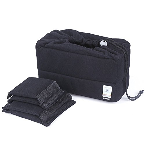 Koolertron Shockproof Padded Foldable Partition Camera Insert Protective Bag for SONY Canon Nikon DSLR Shot Or Flash Light