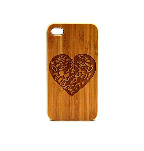 Krezy Case Real Wood iPhone 6 Case, Heart pattern iPhone 6 Case, eyes iPhone 6 Case, Wood iPhone Case,