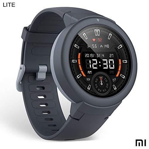 Amazfit Verge LITE Xiaomi Smartwatch Deportivo - Batteria 20h | GPS + GLONASS | Sensore di frequenza cardiaca | IP68 resistenza all'acqua | Notifiche-Music | Gray (International Version) iOS-Android