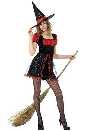 Sexy Hexe Kleid mit Hut für Körpergröße: ()